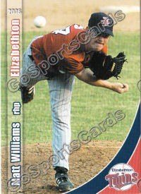 2006 Elizabethton Twins Matt Williams