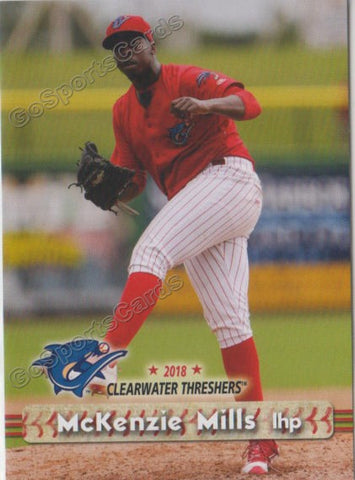 2018 Clearwater Threshers McKenzie Mills