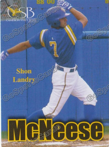 Shon Landry 2008 McNeese State Cowboys Pocket Schedule
