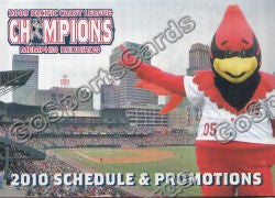 2010 Memphis Redbirds Pocket Schedule
