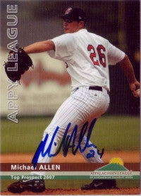Michael Allen 2007 Appalachian League Top Prospects (Autograph)