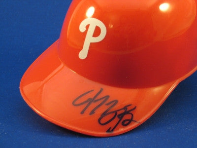 Michael Bourn Philadelphia Phillies Mini Helmet Autograph