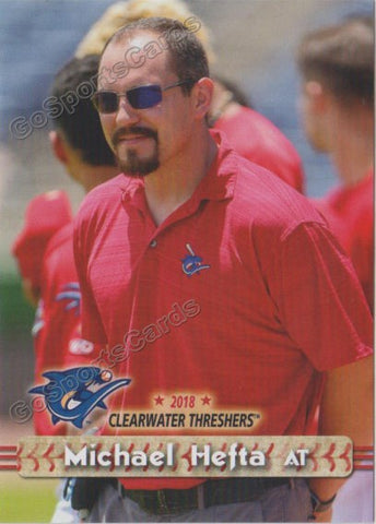 2018 Clearwater Threshers Michael Hefta