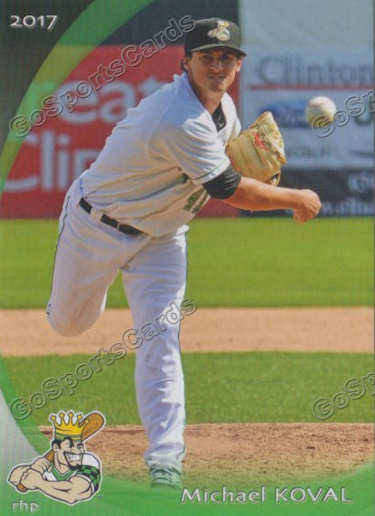 2017 Clinton LumberKings Michael Koval