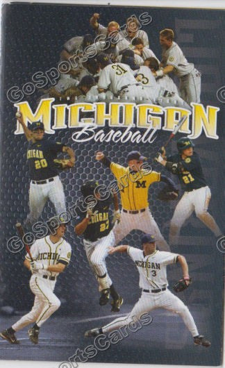 Zach Putnam Nate Recknagel Adam Abraham 2008 Michigan Wolverines Pocket Schedule
