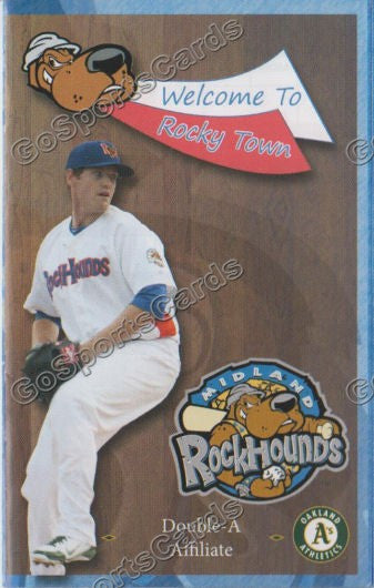 2013 Midland Rockhounds Pocket Schedule (Dan Straily)