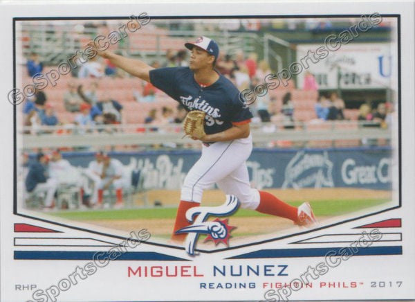 2017 Reading Fightin Phils Miguel Nunez