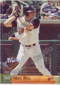 2003 Pacific Coast League All-Star Multi-Ad Mike Bell