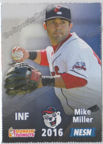 2016 Pawtucket Red Sox SGA Dunkin Donuts Mike Miller