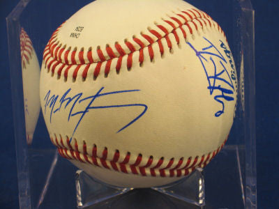 Mike Montgomery Danny Duff signed Baseball Auto