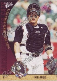 2003 Sacramento River Cats Multi-Ad Mike Rose