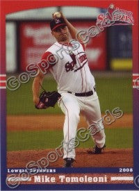 2008 Lowell Spinners Mike Tomoleoni