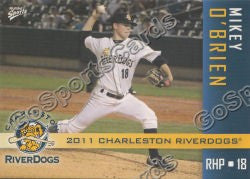 2011 Charleston RiverDogs Mikey O'Brien