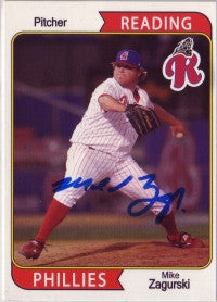 Mike Zagurski 2007 Reading Phillies (Autograph)