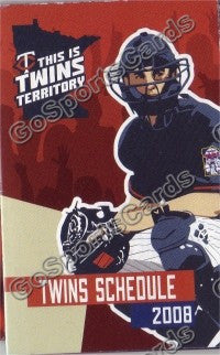 2008 Minnesota Twins Mauer Pocket Schedule