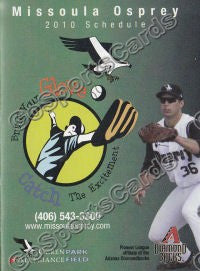 2010 Missoula Osprey Pocket Schedule