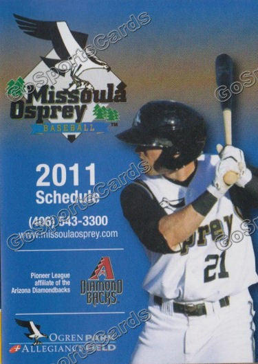 2011 Missoula Osprey Pocket Schedule (Adam Eaton)