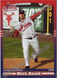 2008 Lowell Spinners Mitch Herold