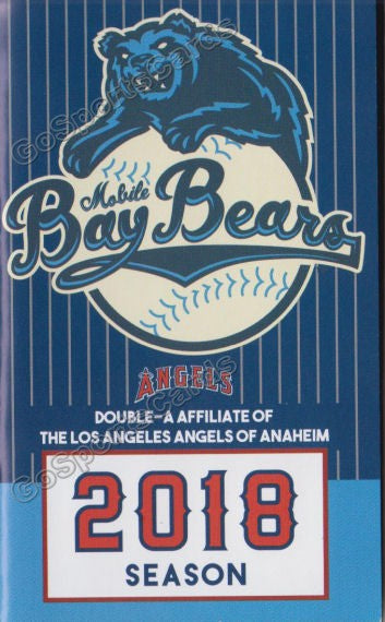 2018 Mobile BayBears Pocket Schedule