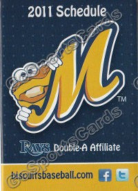2011 Montgomery Biscuits Pocket Schedule