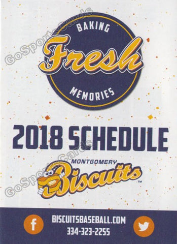 2018 Montgomery Biscuits Pocket Schedule