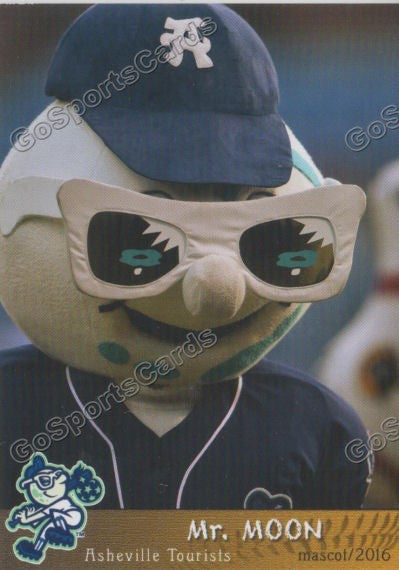 2016 Asheville Tourists Mr Moon Mascot