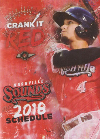 2018 Nashville Sounds Pocket Schedule (Franklin Barreto)