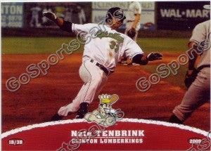 2009 Clinton LumberKings Nate Tenbrink