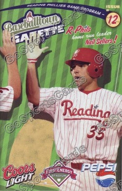 Neil Sellers 2008 Reading Phillies Gazette Program (SGA)