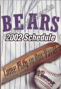 2002 Newark Bears Pocket Schedule