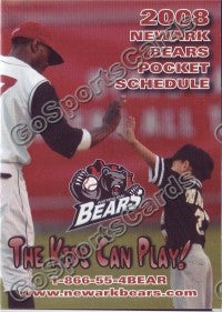 2008 Newark Bears Pocket Schedule