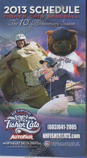 2013 New Orleans Zephyrs Pocket Schedule (20th Anniversary)