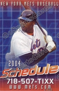 2004 New York Mets Floyd Pocket Schedule