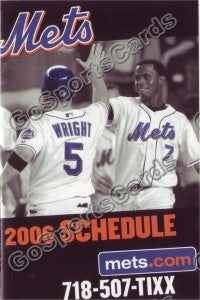 2006 New York Mets Pocket Schedule
