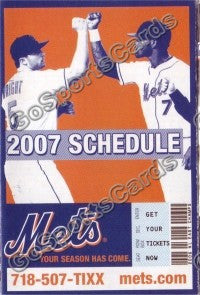 2007 New York Mets Pocket Schedule