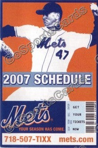 2007 New York Mets Glavine Pocket Schedule