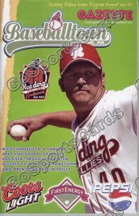 Nick Evangelista 2006 Reading Phillies Gazette Program (SGA)