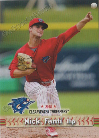 2018 Clearwater Threshers Nick Fanti