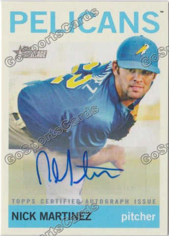 2013 Topps Heritage Minor League Nick Martinez Autograph #ROA-NM