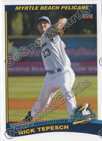 2012 Myrtle Beach Pelicans Team Set