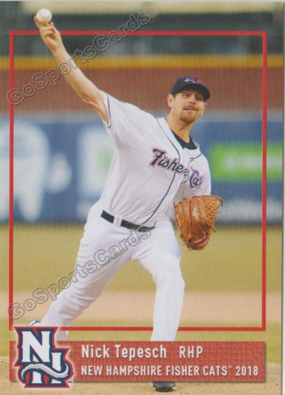 2018 New Hampshire Fisher Cats Nick Tepesch
