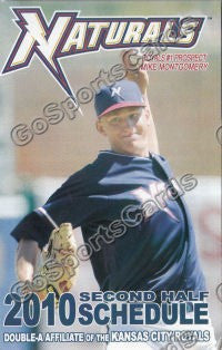 2010 NorthWest Arkansas Naturals Pocket Schedule Mike Montgomery