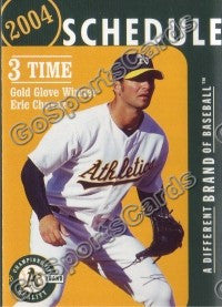 2004 Oakland Athletics Pocket Schedule