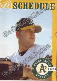 2006 Oakland Athletics Blanton Pocket Schedule