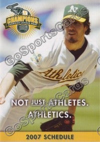 2007 Oakland Athletics Harden Pocket Schedule