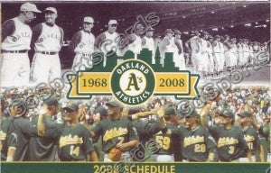 2008 Oakland Athletics Pocket Schedule
