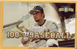 2008 Oakland Athletics Chavez Pocket Schedule