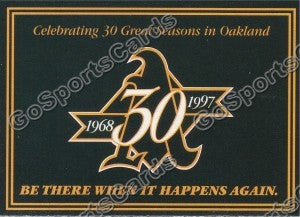 1997 Oakland Athletics Pocket Schedule