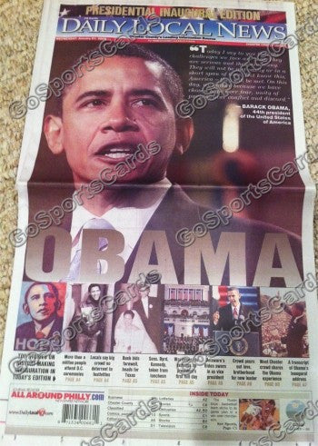 "Barack Obama Daily Local News ""OBAMA"" Newspaper"