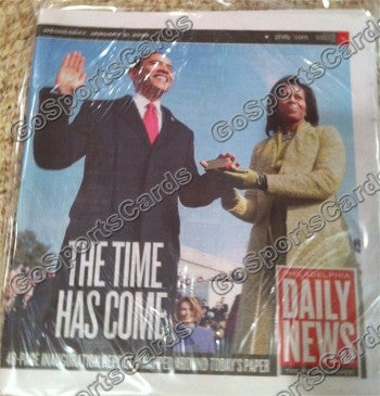 "Barack Obama Daily News ""The Time Has Come"" Newspaper"